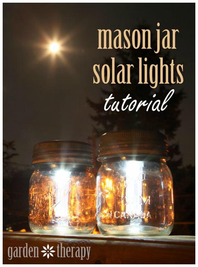 DIY Solar Inspired Solar Light Lighting Ideas- DIY Mason Jar Solar Light Tutorial