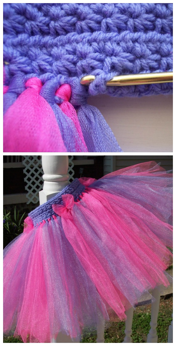 Star Stitch Tutu Skirt Crochet Free Pattern - Tutu #Dress Yoke Free #Crochet; Pattern