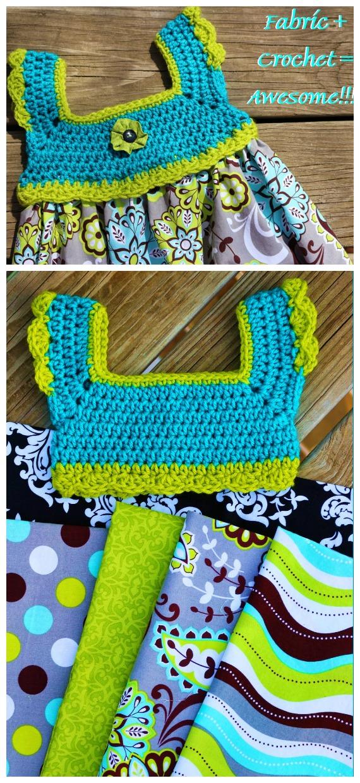 Double Stitch Tutu Dress Crochet Free Pattern- #Crochet; #TutuDress; Free Patterns