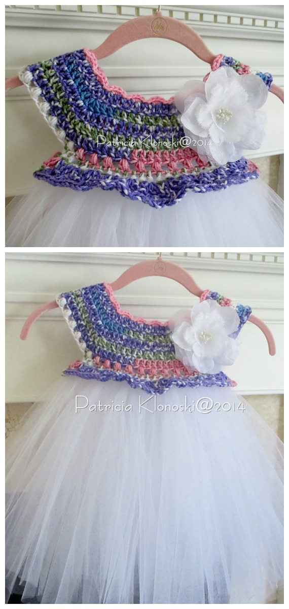 Empire Waist Tutu Dress Crochet Free Pattern  - Tutu #Dress Yoke Free #Crochet; Pattern