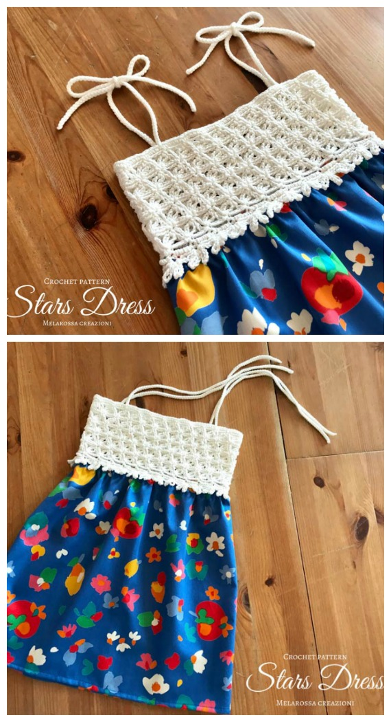 Stelle Star Dress Crochet Free Pattern  - Tutu #Dress Yoke Free #Crochet; Patterns