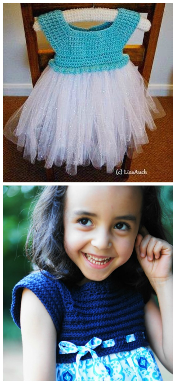 Frozen Tutu Dress Crochet Free Pattern  - Tutu #Dress Yoke Free #Crochet; Pattern