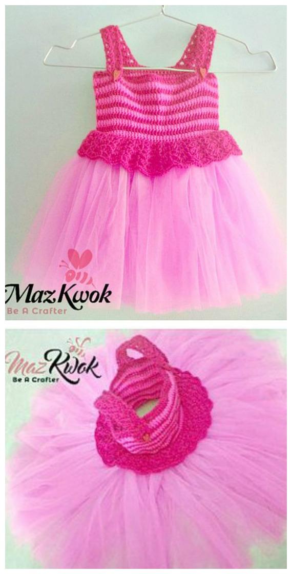 Pinky V Stitch Tutu Dress Crochet Free Pattern  - Tutu #Dress Yoke Free #Crochet; Pattern