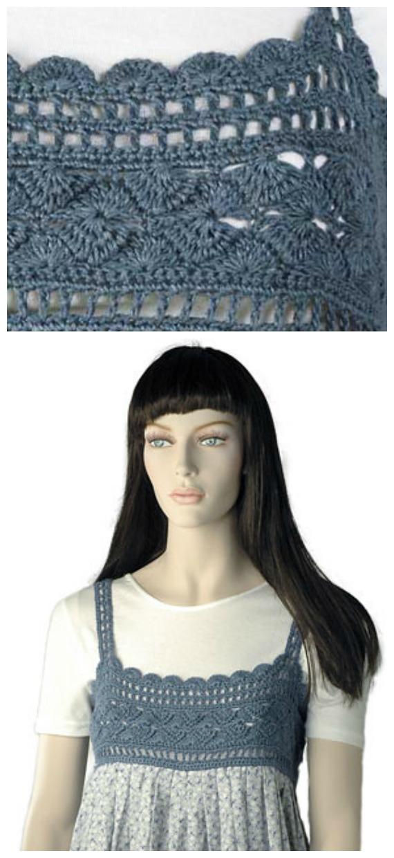 Nell Fabric Dress Crochet Free Pattern- #Crochet; #TutuDress; Free Patterns