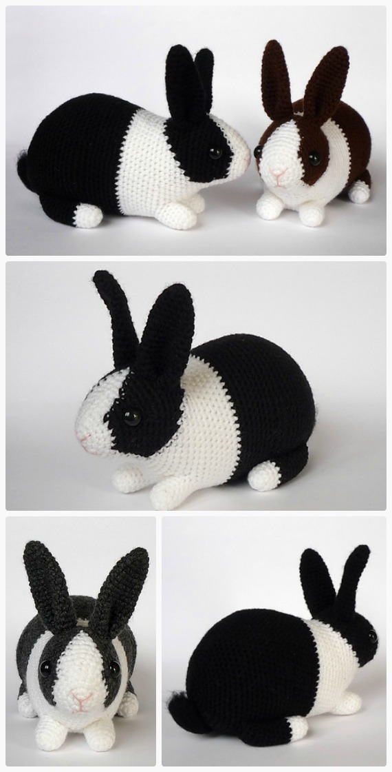 Long Eared Bunny Amigurumi - Crochet Pattern & Tutorial - Creativa ... | 1120x570