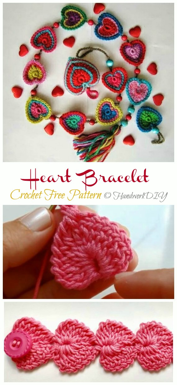 Crochet Sweet Heart Gifts Free Patterns For Your Valentine
