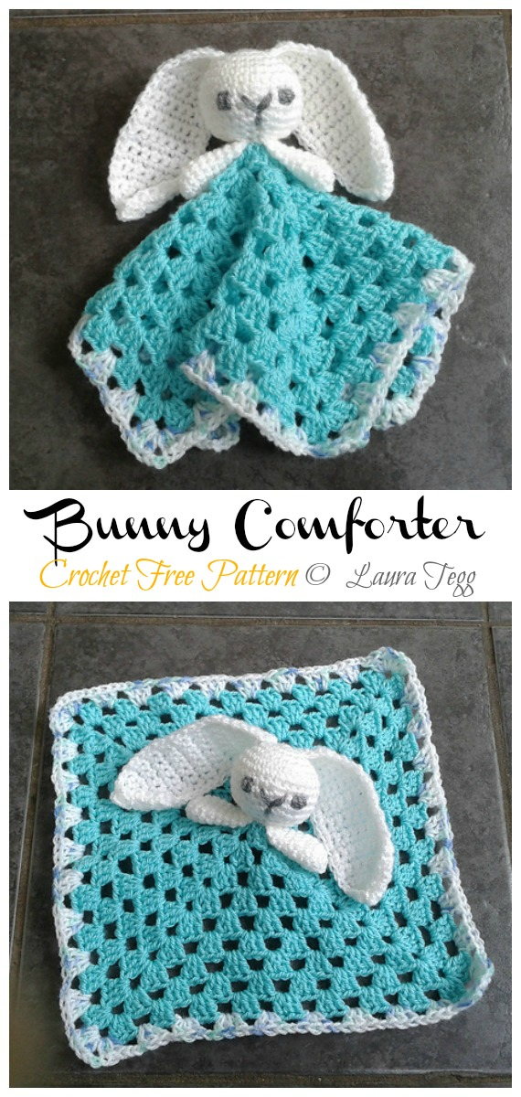 Bunny Comforter / Lovey Free Crochet Patterns - Baby #Easter; Gifts # Crochet; Free Patterns