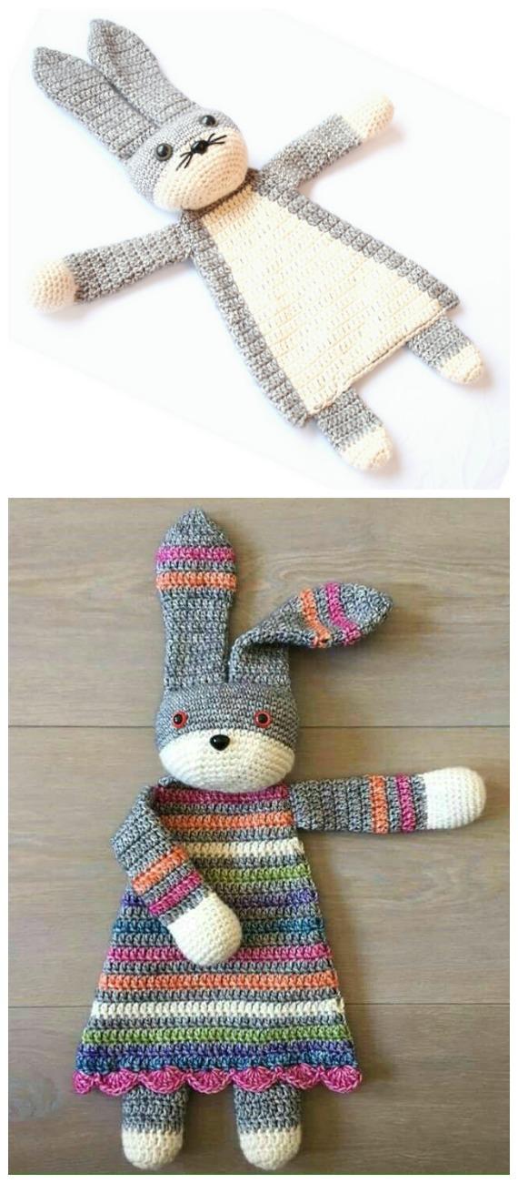 Darling Bunny Ragdoll Crochet Patterns - Baby #Easter; Gifts # Crochet;  Patterns