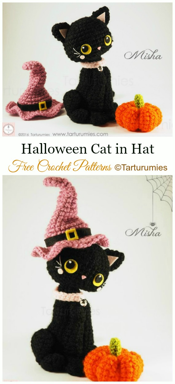 Ravelry: Amigurumi Halloween Black Cat pattern by The Enchanted ... | 1250x570