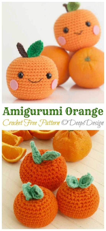 Crochet Amigurumi Fruits Free Patterns | 1240x570