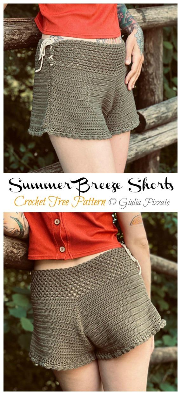Summer Breeze Shorts Crochet Free Pattern - Summer #Shorts; & Pants Free Crochet Patterns