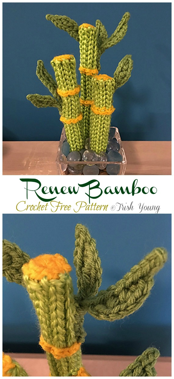 Crochet Renew Bamboo Amigurumi  Free Pattern- Fun House Plant #Crochet; Free Patterns