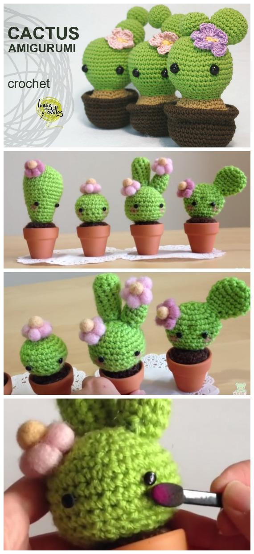 Crochet a cactus - Free patterns- Yarnplaza.com | For knitting ... | 1240x570