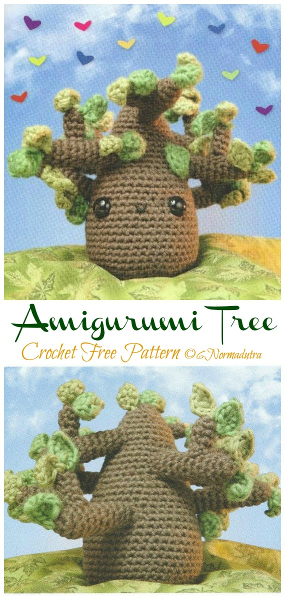Crochet Tree Amigurumi Free Pattern- Fun House Plant #Crochet; Free Patterns