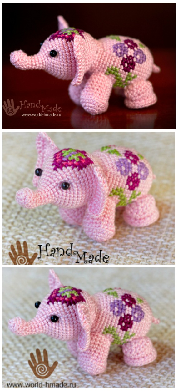 Playful Elephant Bert Amigurumi Crochet Pattern | 1250x570