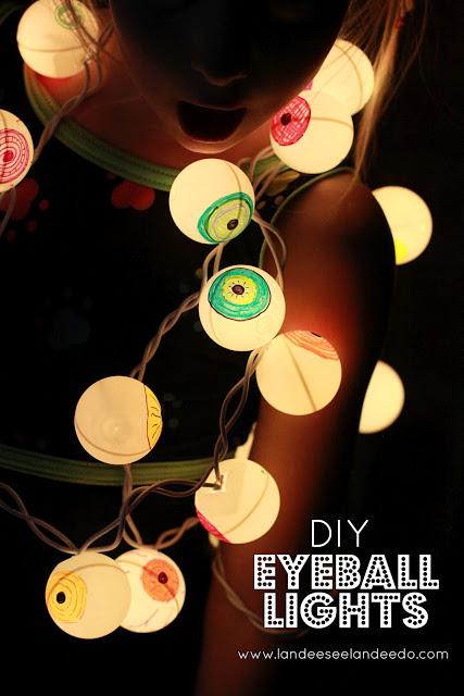 DIY Eyeball Lights Tutorial - DIY Halloween Light Projects Instructions