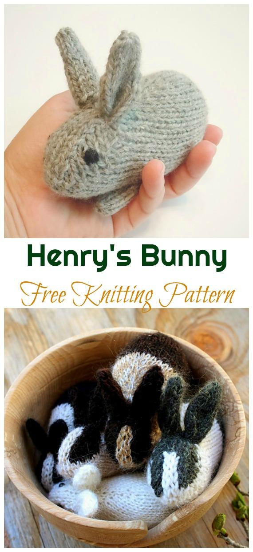 Amigurumi Henry's Bunny Knitting Free Pattern - Amigurumi Easter Bunny Toy Softies Free Patterns