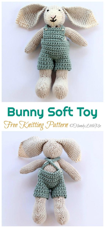 Amigurumi Bunny Soft Toy Knitting Free Pattern - Amigurumi Easter Bunny Toy Softies Free Patterns