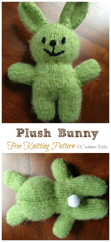 Amigurumi Plush Bunny Knitting Free Pattern - Amigurumi Easter #Bunny; Toy Softies Free #Knitting; Patterns