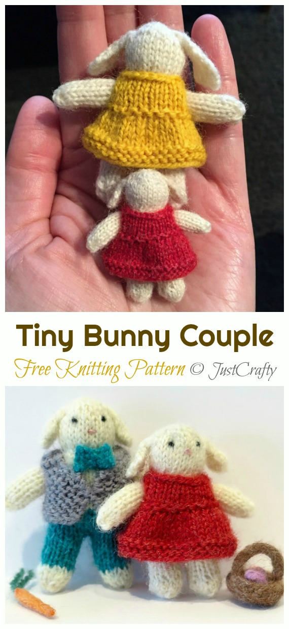 Baby Bunnies 1 & 2 - SIX amigurumi bunny crochet patterns ... | 1240x570