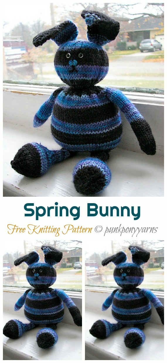 Amigurumi Spring Bunny Free Crochet Patterns - DIY Magazine | 1240x570