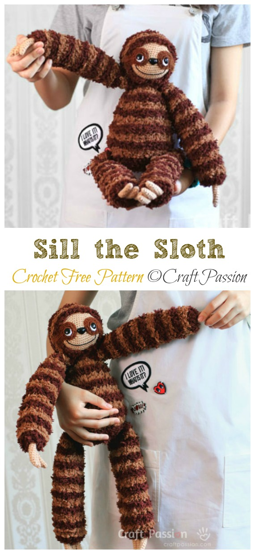 Sloth Amigurumi - Free Crochet Pattern | Craft Passion – Page 2 of ... | 1240x570