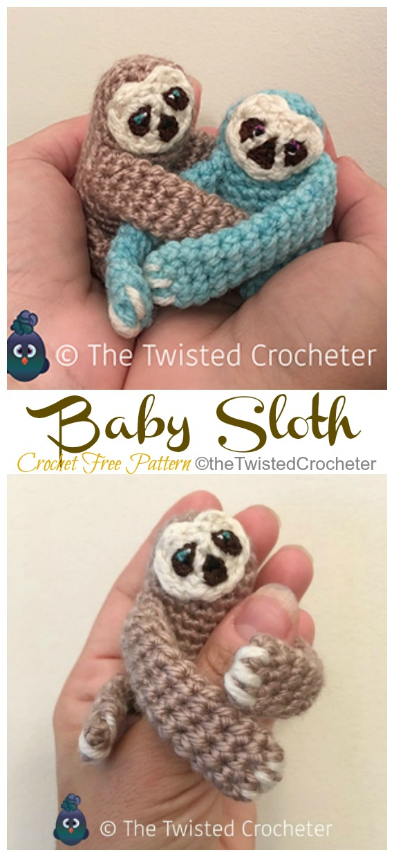 Sleepy sloth crochet pattern - Thoresby Cottage | 1240x570