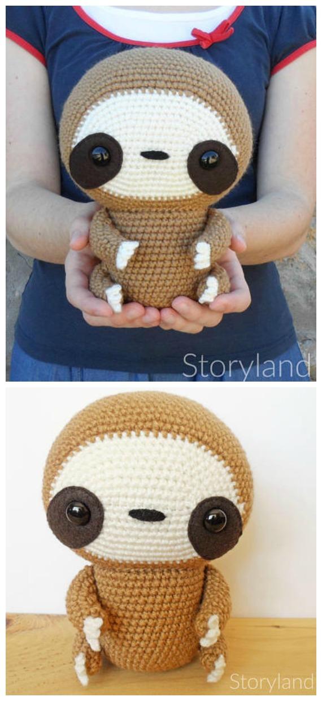 Amigurumi Cuddle-Sized Sloth Crochet Pattern - Crochet #Sloth; #Amigurumi; Toy Softies Patterns