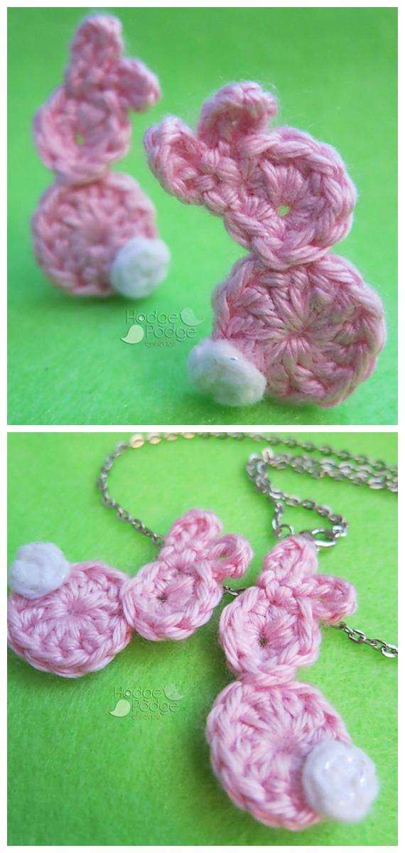 Hoppy Bunny Applique Crochet Free Pattern - #Crochet; Bunny #Applique; Free Patterns
