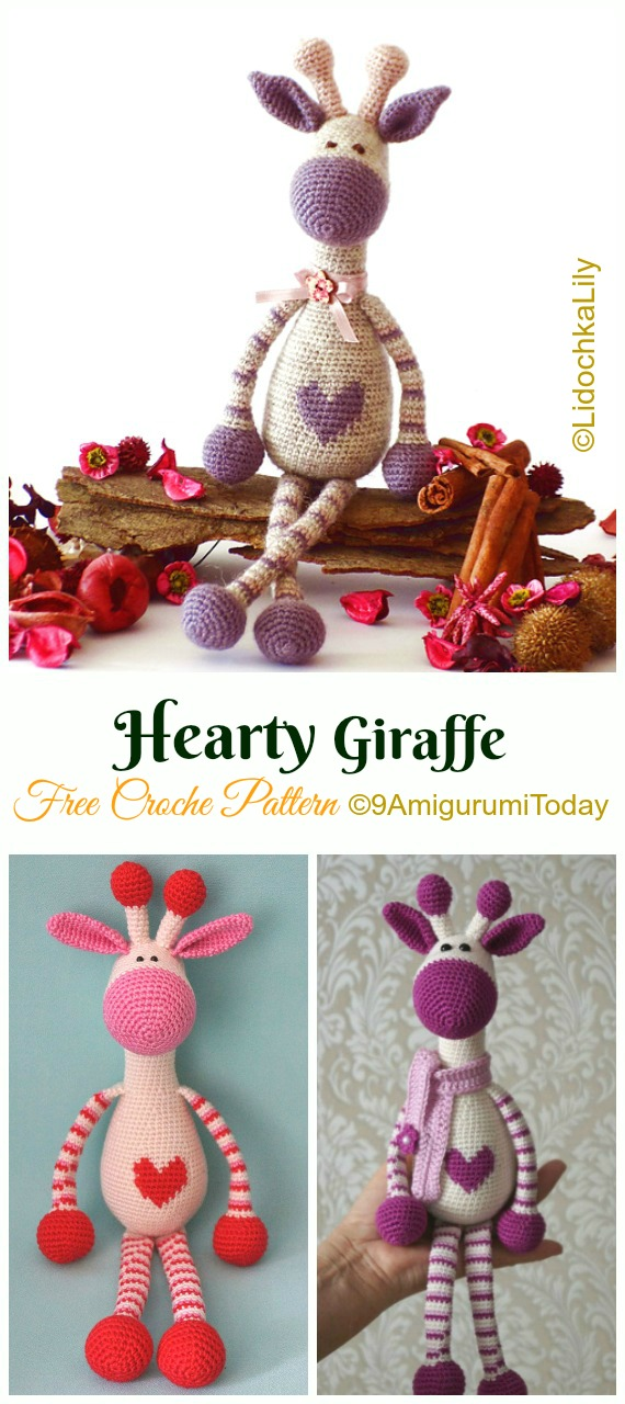32 Free Crochet Giraffe Amigurumi Patterns ⋆ DIY Crafts | 1280x570