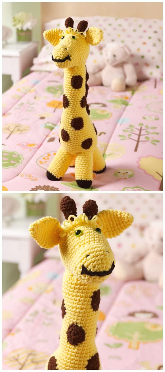 Geri the Giraffe Amigurumi Crochet Pattern | 1280x570