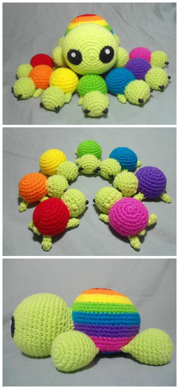 Pastel turtle - Free amigurumi pattern | 1240x570