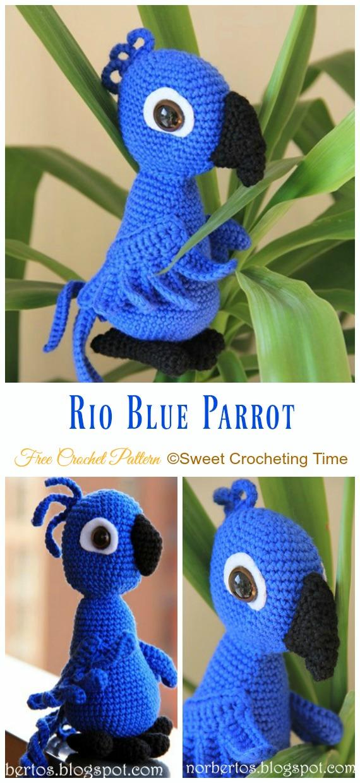 6 Amazing Crochet Bird Amigurumi Free Patterns | 1240x570