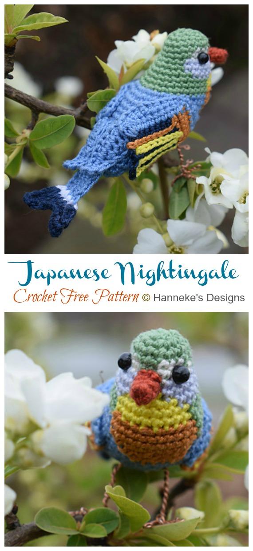 Japanese Nightingale Amigurumi Free Crochet Pattern - Crochet #Bird; #Amigurumi Free Patterns