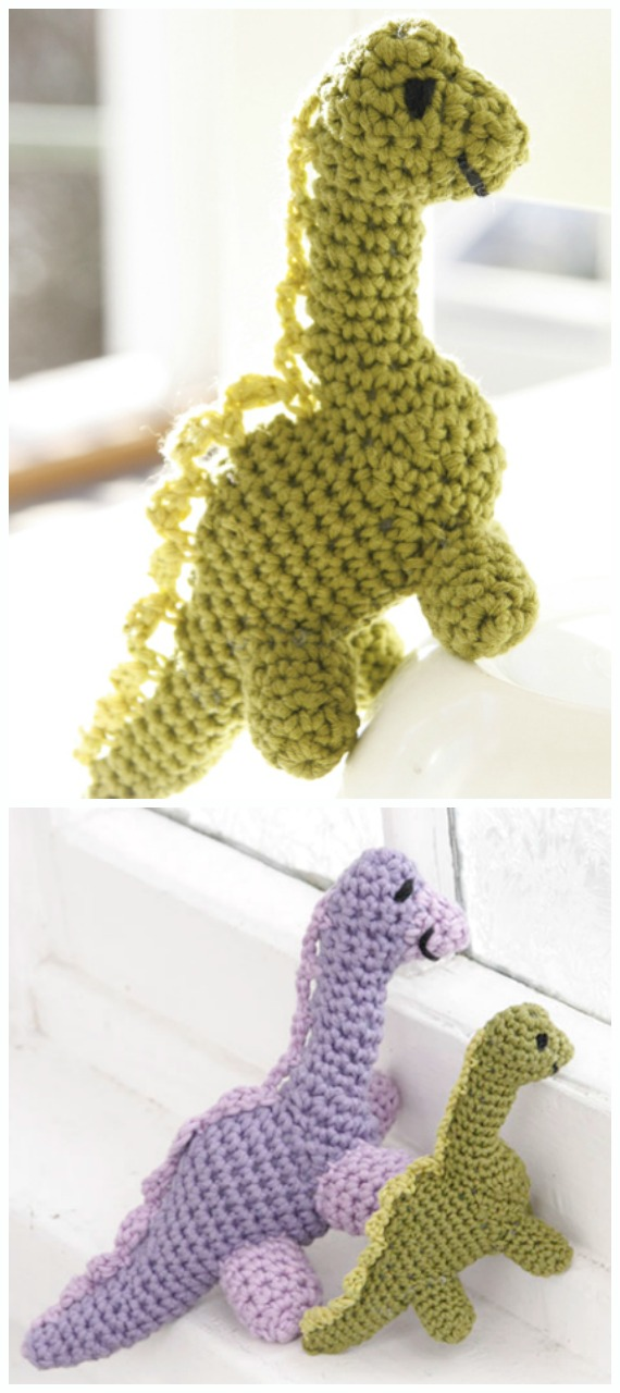 Dinosaur Crochet Patterns – For Your Dino Lover - A More Crafty Life | 1280x570