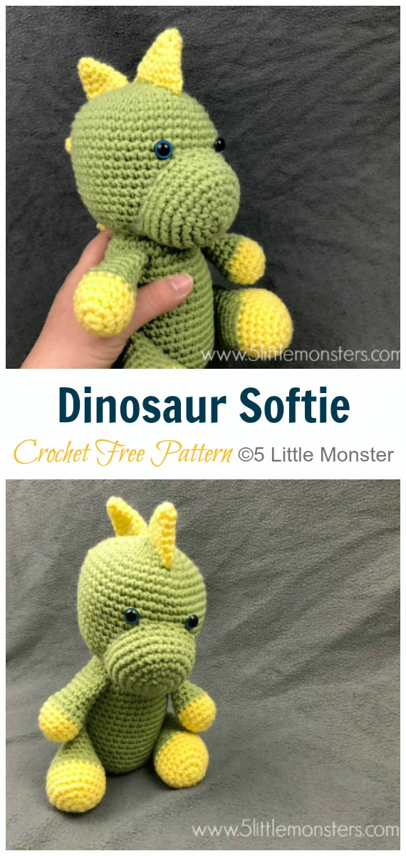Giant Amigurumi Dinosaur! | PlanetJune by June Gilbank: Blog | 1200x570