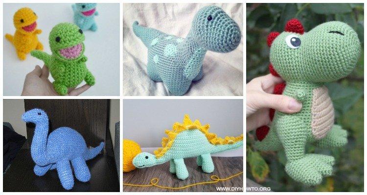 Amigurumi dinosaur crochet pattern - Amigurumi Today | 400x750