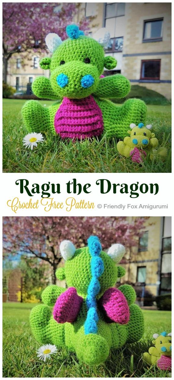 Crochet Dragon Amigurumi Patterns - A Binge Worthy Life | 1240x570
