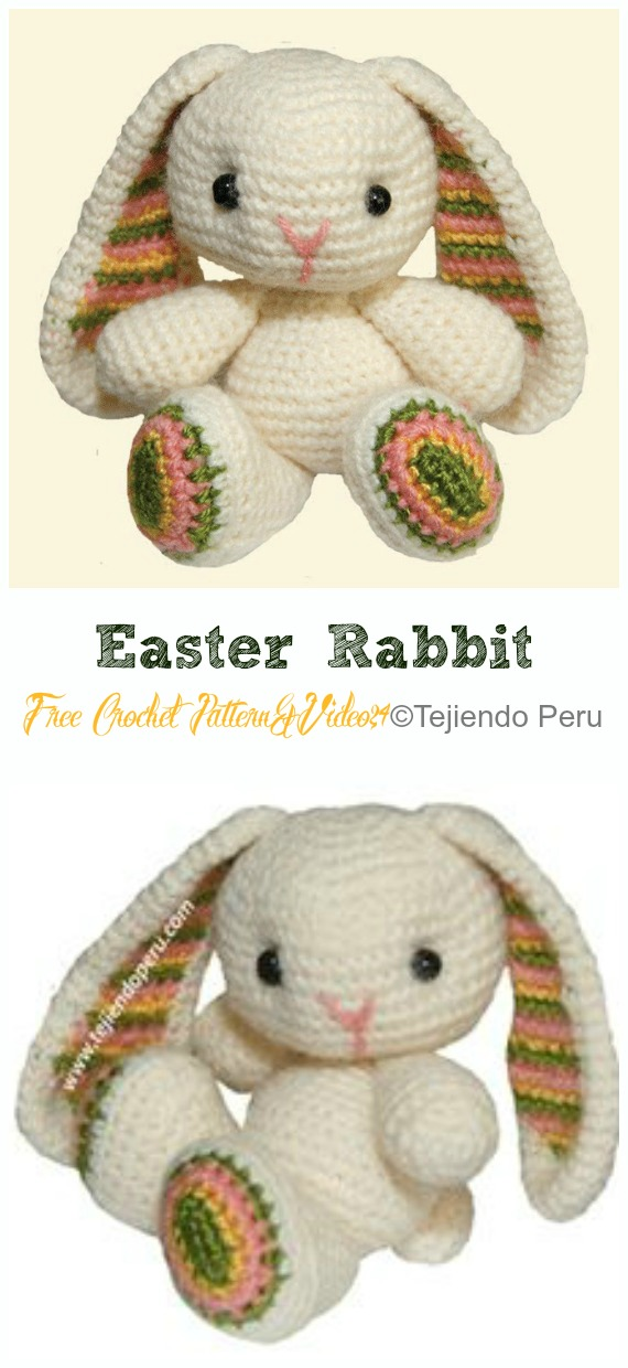 crochet) Pt1: How To Crochet an Amigurumi Rabbit - Yarn Scrap ... | 1240x570