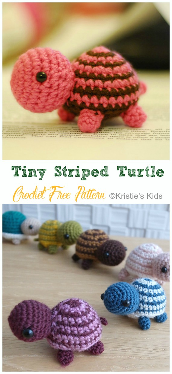 Original Little Bigfoot Turtle Free Crochet Pattern | 1240x570