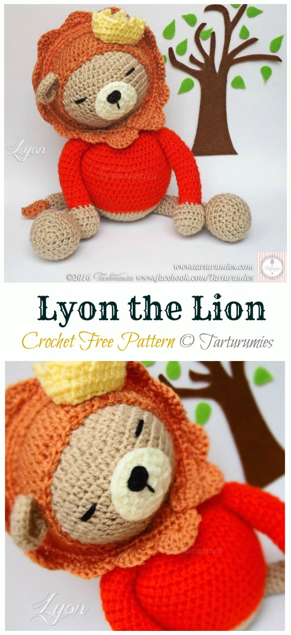Crochet Leon the Lion Amigurumi Free Pattern - #Amigurumi; #Lion; Crochet Free Patterns