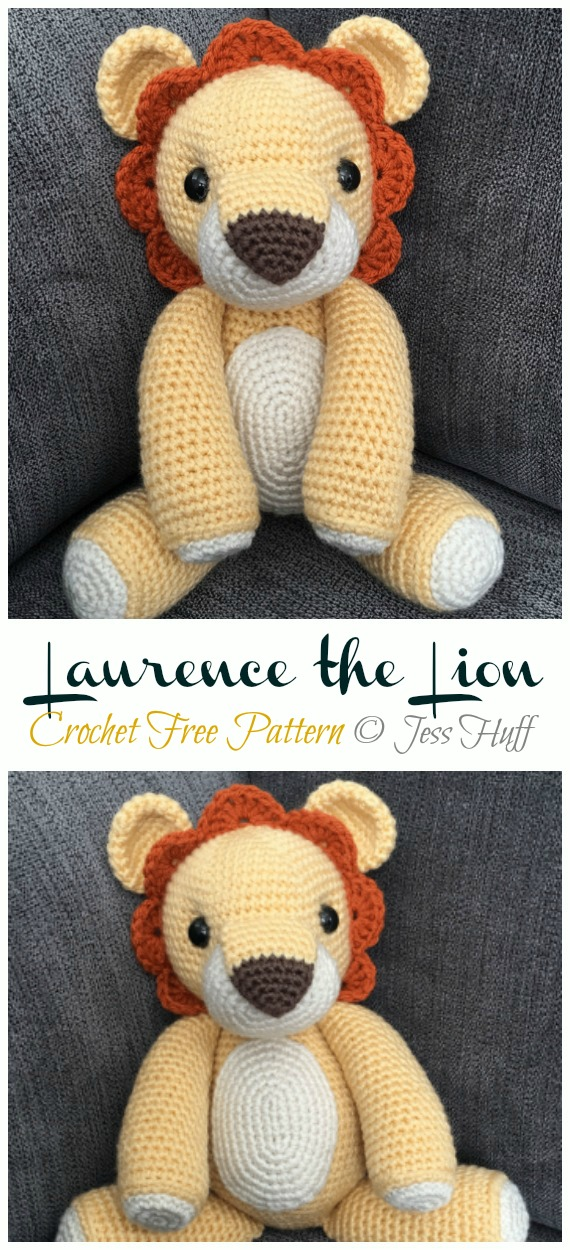 Crochet Laurence the Lion Amigurumi Free Pattern - #Amigurumi; #Lion; Crochet Free Patterns