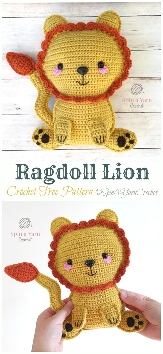 Crochet Ragdoll Lion Amigurumi Free Pattern - #Amigurumi; #Lion; Crochet Free Patterns