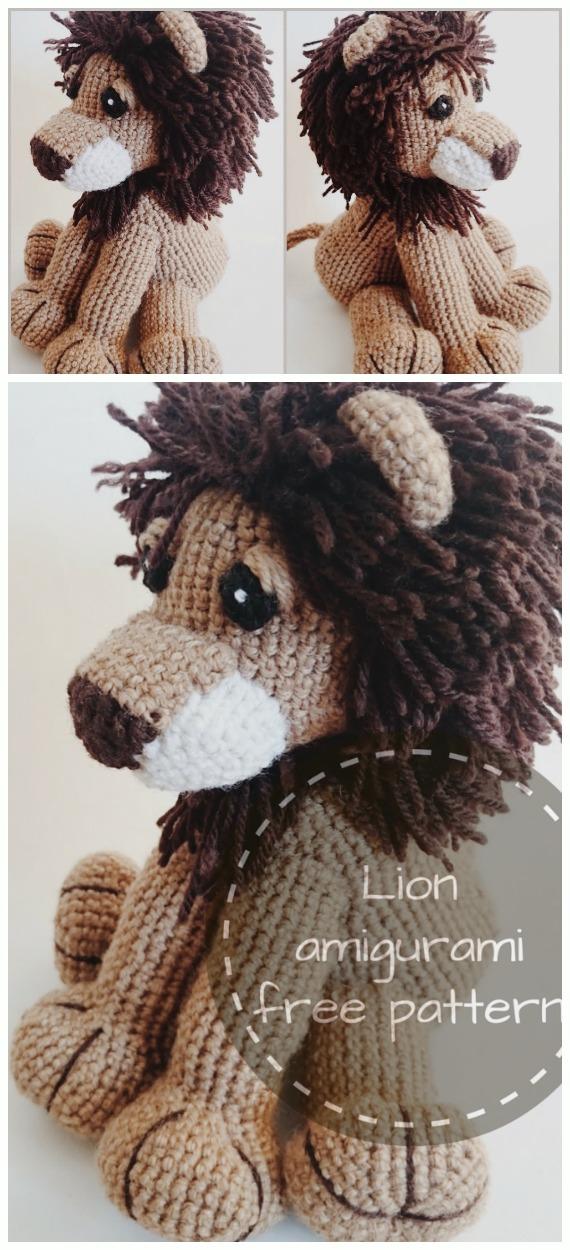 Crochet Wild Lion Amigurumi Free Pattern - #Amigurumi; #Lion; Crochet Free Patterns