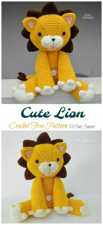 Crochet Cute Lion Amigurumi Free Pattern - #Amigurumi; #Lion; Crochet Free Patterns