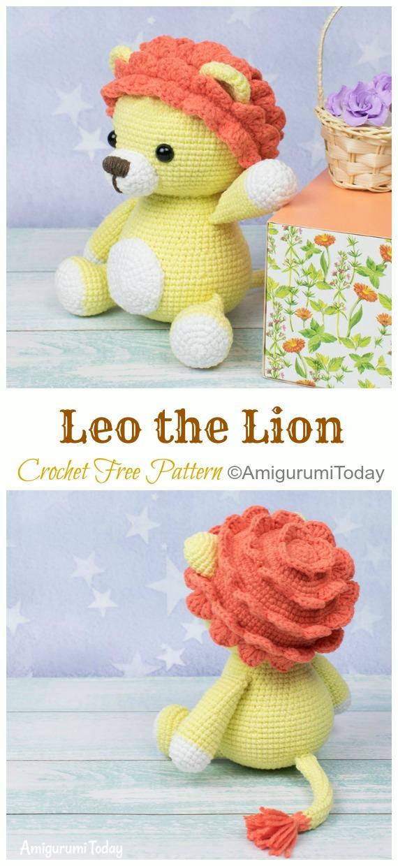 Crochet Leo the Lion Amigurumi Free Pattern - #Amigurumi; #Lion; Crochet Free Patterns