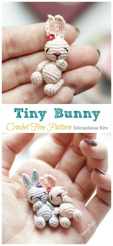 Little crochet bunny pattern | Amiguroom Toys | 1240x570