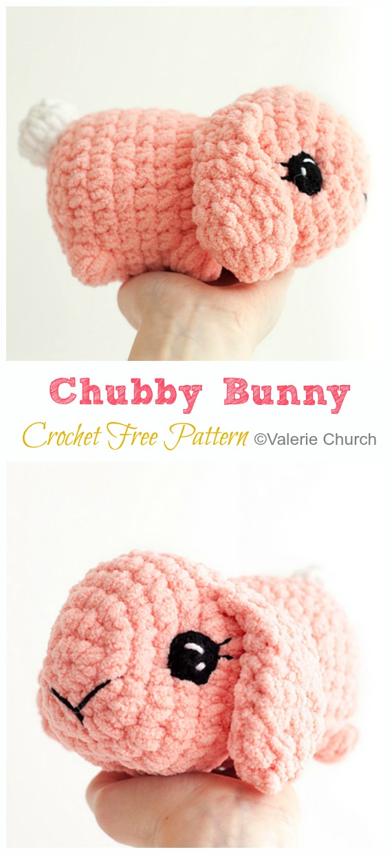 Free Pattern - #Crochet; Amigurumi #Bunny; Toy Softies Free Patterns