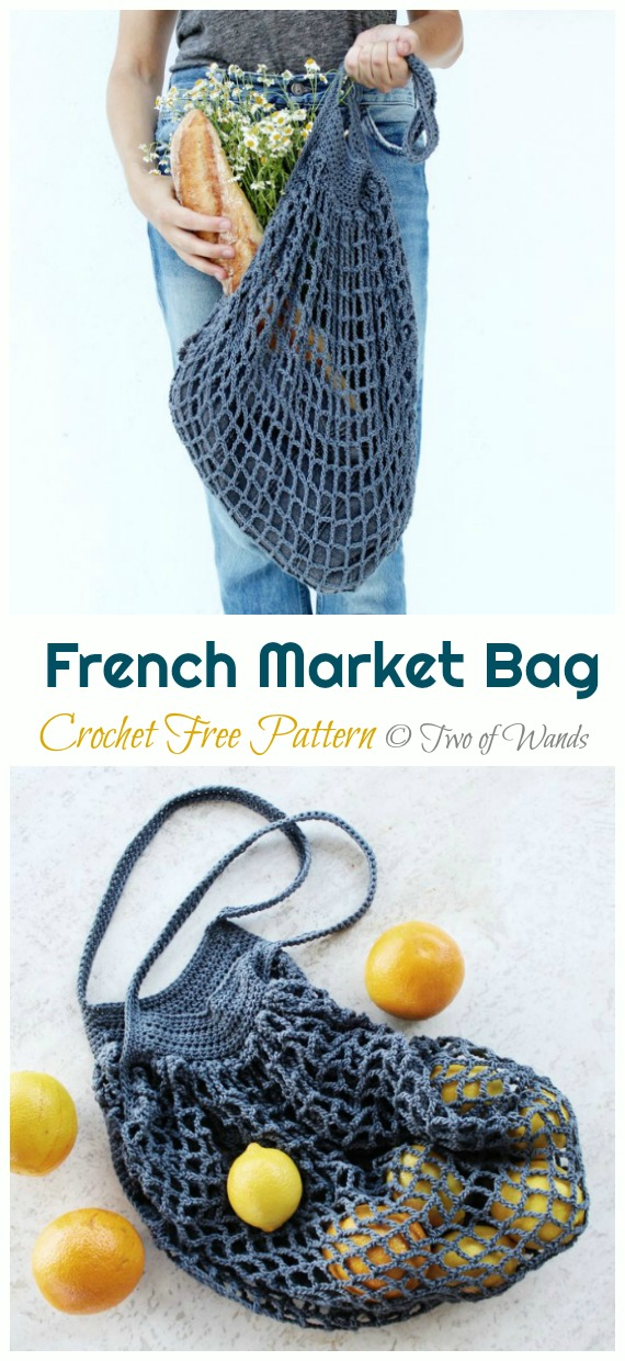 French Market Bag Crochet Free Pattern - Trendy Free Market #Bag; #Crochet; Patterns