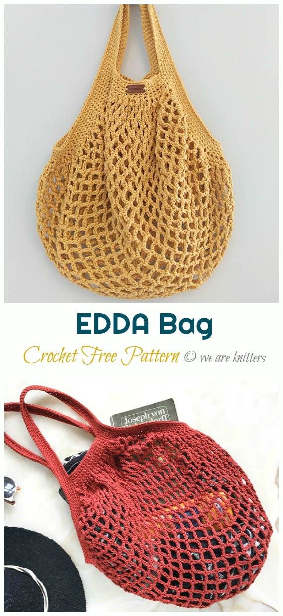 EDDA Bag Crochet Free Pattern - Trendy Free Market #Bag; #Crochet; Patterns